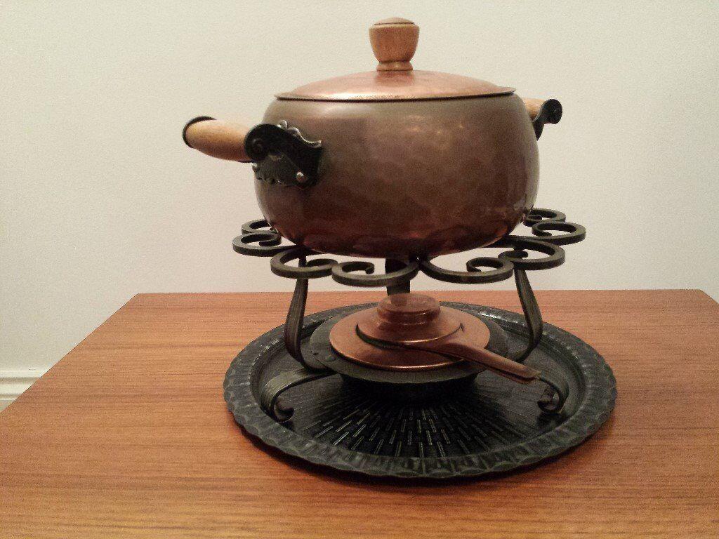 Stockli Fondue Set, older style, very nice, very good condition
