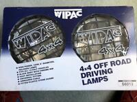 Wipac 4X4 spotlights - brand new