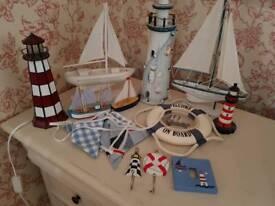Nautical bundle lighthouse lamp boats etc