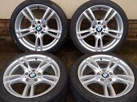 """18"""" BMW F30 M SPORT ALLOYS WHEELS STYLE 400 E46 E90 E91 E92 E93"""
