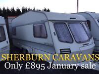 LUNAR delta 500 twin axle swift elddis abi caravan End bedroom CAN Deliver must clear Bargain