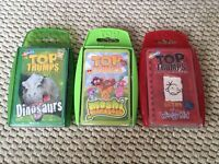 FREE 3 packs of Top Trumps dinosaurs, diary of a wimpy kid, Moshi monsters