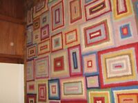 HARLEQUIN GOOD QUALITY RUG! IDEAL FOR KIDS PLAY ROOM, NEEDS A SHAMPOO BUT OTHER THAN THAT V.GOOD CON
