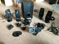 5.1 PC Speaker system (Creative Inspire T6060) with wall mount and USB sound card