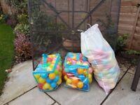 FREE - 3 bags of plastic soft play balls