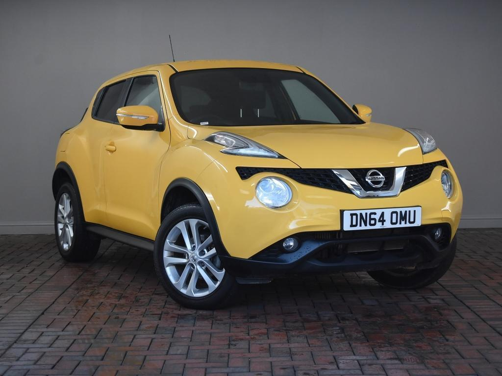 nissan juke 1 5 dci acenta premium 5dr yellow 2014 in. Black Bedroom Furniture Sets. Home Design Ideas