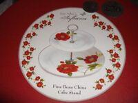 2 Tier China Cake Stand