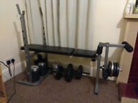 Weights bench, bench, abs weights, dumbbells, barbell Reebok