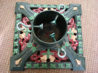 CHRISTMAS CAST IRON TREE STAND - GORGEOUS