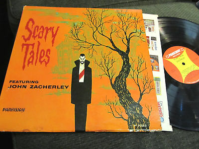 John Zacherley Scary Tales Halloween LP'62 Surfen Selten Gruselige Horror Wow