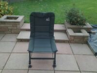 Terry Hearn recliner carp fishing chair