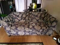 2 seater dark purple sofa