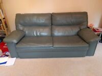 leather living room 3 piece suite for sale