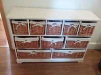 Wooden / Wicker Storage Unit