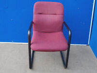 Quality heavy duty red meeting chairs x 10 (Delivery)