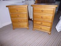 For sale - two quality pine bedside cabinets