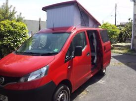 nissan nv200 campervan 2011 professional conversion 41000mls pop top 4xseatbelts sleeps3
