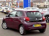 PEUGEOT 108 1.0 ACTIVE 5dr AUTO ** 1 Lady Owner From New ** (purple) 2014