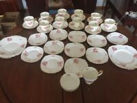 Adderley Fine Bone China 34 piece tea set