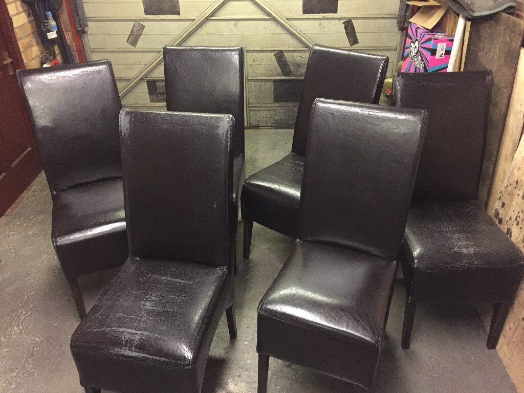 6 Dining Chair In Brown Vinyl Ballyclare County Antrim Gumtree