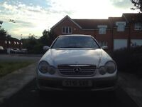 2002 Mercedes C180 kompressor coupe panoramic roof