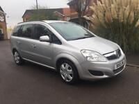2010 10 reg Vauxhall Zafira 1.9 TDI EXCLUSIV Automatic 7 Seater Silver