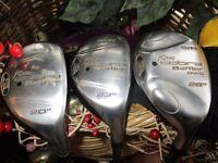 three cobra bafflers golf clubs