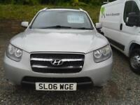 HYUNDAI SANTA FE 2.7 V6 CDX 5dr Auto FULL LEATHER, TOW BAR, ALLOYS, DVD ETC 5 seater (silver) 2006