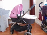 Icandy Strawberry 2 - carrycot and pushchair - 2in 1 - prams buggy