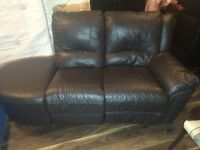 2 Seater sofa Real leather Can deliver