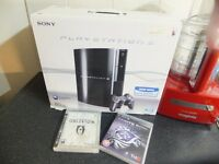 PS3 80GB BOXED WITH GAMES