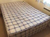Double divan base with mattress