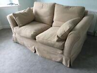 Sofa, beige 2 seater