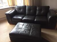 3 seater sofa + footstool