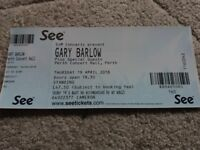 1 X Gary Barlow Standing Ticket for Perth Concert Hall