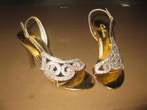 women's size 6 gold dress shoes
