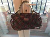 Cath Kidston tartan oil cloth bag