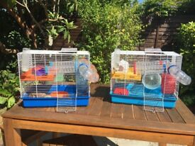 Hamster Cages x2 Second Hand