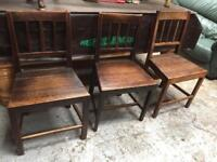 Chairs x3 solid wood