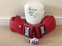 Boxing sports memorabilia - authentic signed boxing gloves