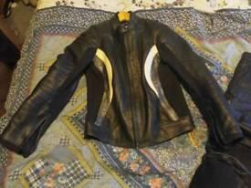 Ladies lewis leather motorcycle jacket