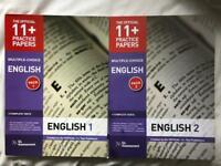 11+ English Practice Papers Pack 1&2 - excellent condition