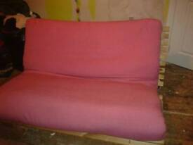 Pink Double futon sofa bed