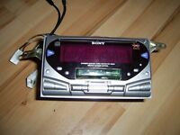 GENUINE CAR STEREO CD AND TAPE PAYER SONY DOUBLE CD/TAPE/AND RADIO LIKE NEW CONDITION VERY GOOD