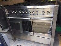 SMEG 100cm wide RANGE DUAL FUEL COOKER MODEL A2