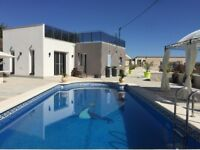 For Rent Spain Modern Country Holiday Villa North West Murcia Large Private Pool BBQ Bar Terrace