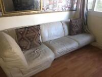 Corner leather sofa good condition cost was £2700