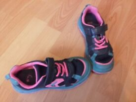 Girls Clarks trainers 12.5f