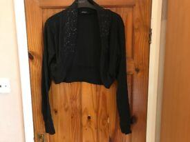 Lovely Black with sparkly detail size 20 shrug / short cardigan