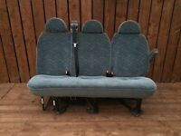 Van minibus crew motorhome seats chairs bench 3 seater with bolts and seatbelts - southside